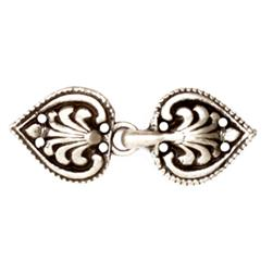 Buckles 2'' Romance Clasp Antique Silver