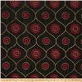 Jaclyn Smith 02096 Embroidered Quatrefoil Berry