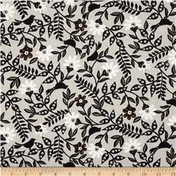 Timeless Treasures Serafina Floral Vines with Birds Ash