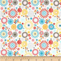Riley Blake Girl Crazy Flannel Petals Cream