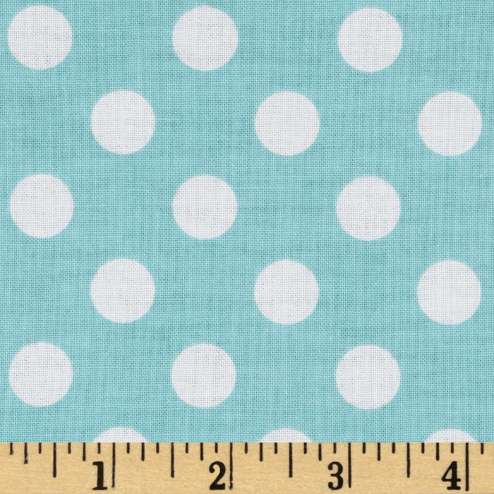 Riley Blake Twice as Nice Dots Blue Fabric