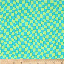 Hip Happier Wavy Check Teal
