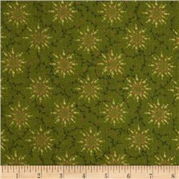 108'' Wide Quilt Backing Prairie Vine Green Fabric
