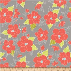 Riley Blake Lula Magnolia Large Floral Orange Fabric