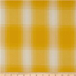 Designer Yarn Dyed Suiting Plaid Yellow