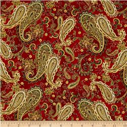 Christmas Splendor Paisley Red