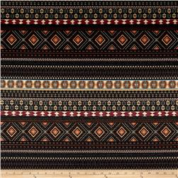 French Designer Pique Tribal Black/Pink/Orange