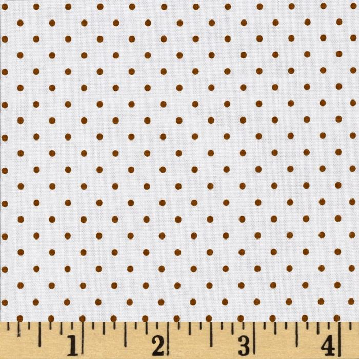 Riley Blake Swiss Dots White/Brown