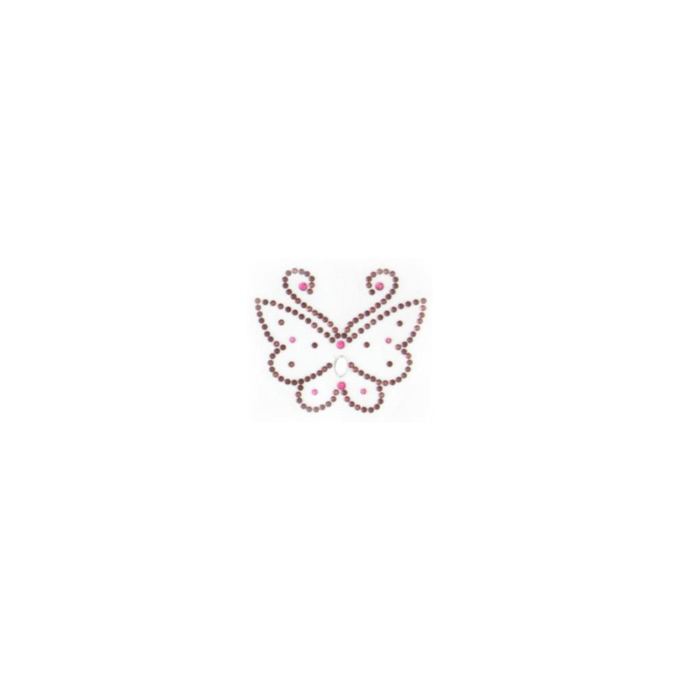 Butterfly Rhinestud Applique Brown
