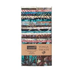 "Timeless Treasures Tonga Treats Batik Topaz 2 1/2"" Strip Multi"