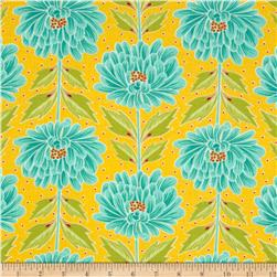 Moda Chantilly Wall Flowers Buttercup