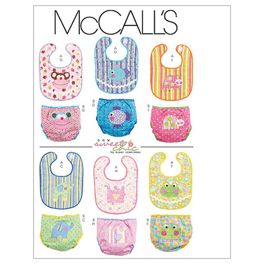 McCall's Infants' Bibs and Diaper Covers Pattern M6108