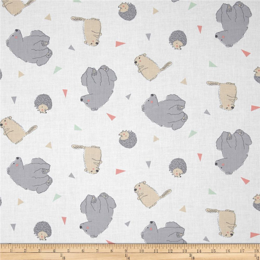 Nursery camp wee one toss up multi discount designer for Nursery fabric