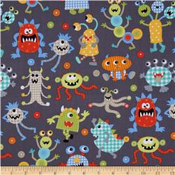 Michael Miller It's A Boy Thing Monster Mash Grey