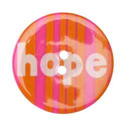 Novelty Button 1-3/8'' Hope Orange