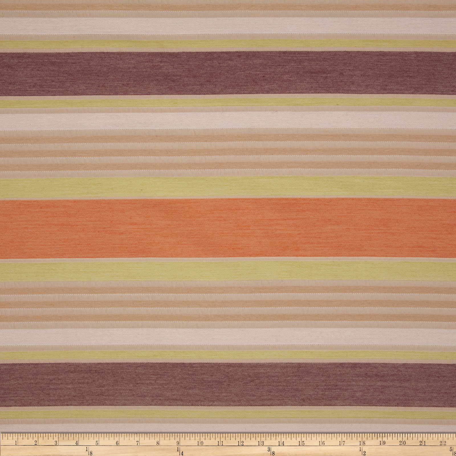 Marcovaldo Louis Stripe Jacquard Rustic Orange Fabric