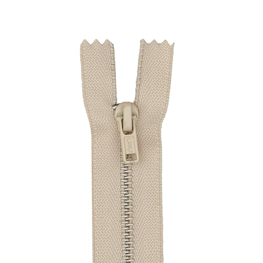 Metal All Purpose Zipper 14'' Ecru