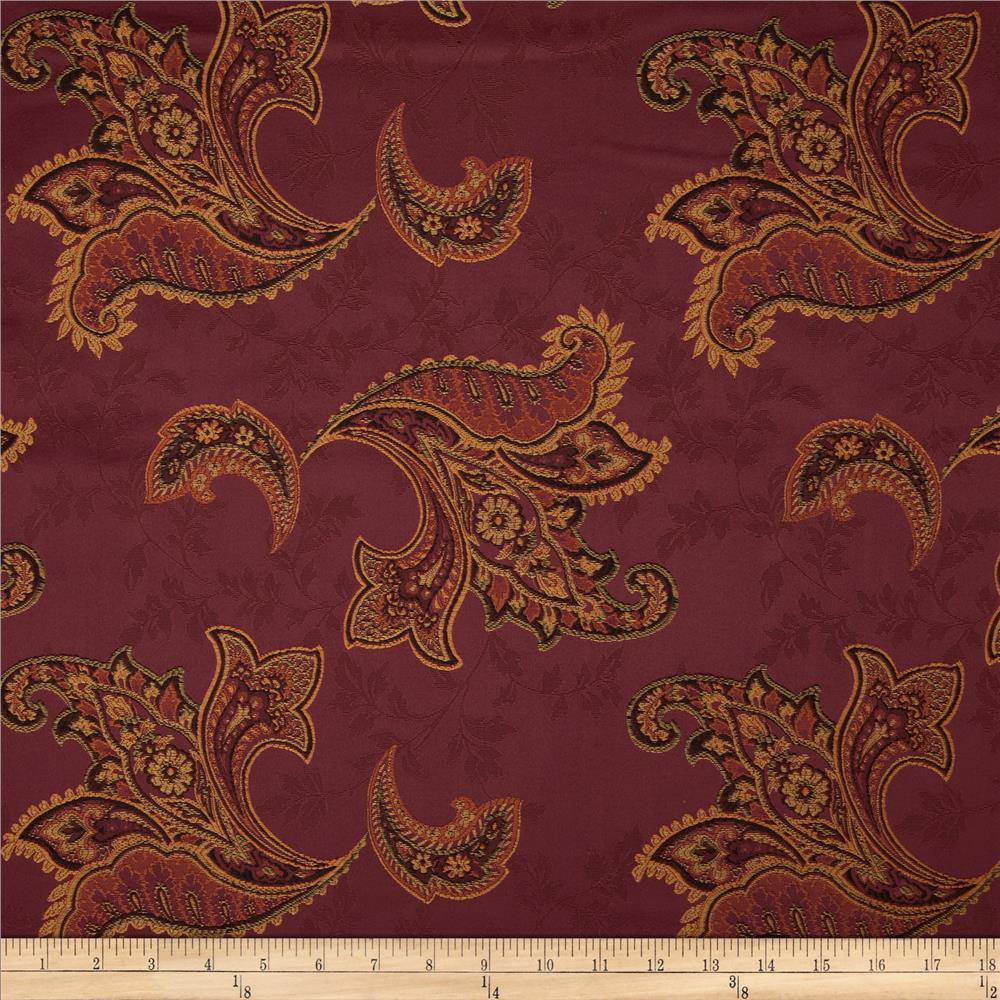 Richloom Rayne Damask Jacquard Red