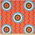 Mosaica Flowers & Chevrons Orange