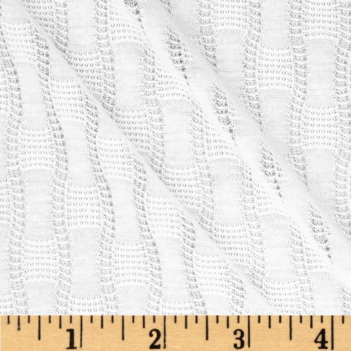 Wavy Pointelle Knit White