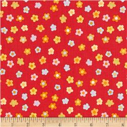 Kitschy Kawaii Mini Floral Red/Multi Fabric