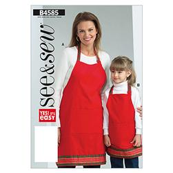 Butterick Adults'/Children's Apron Pattern B4585 Size 0A0
