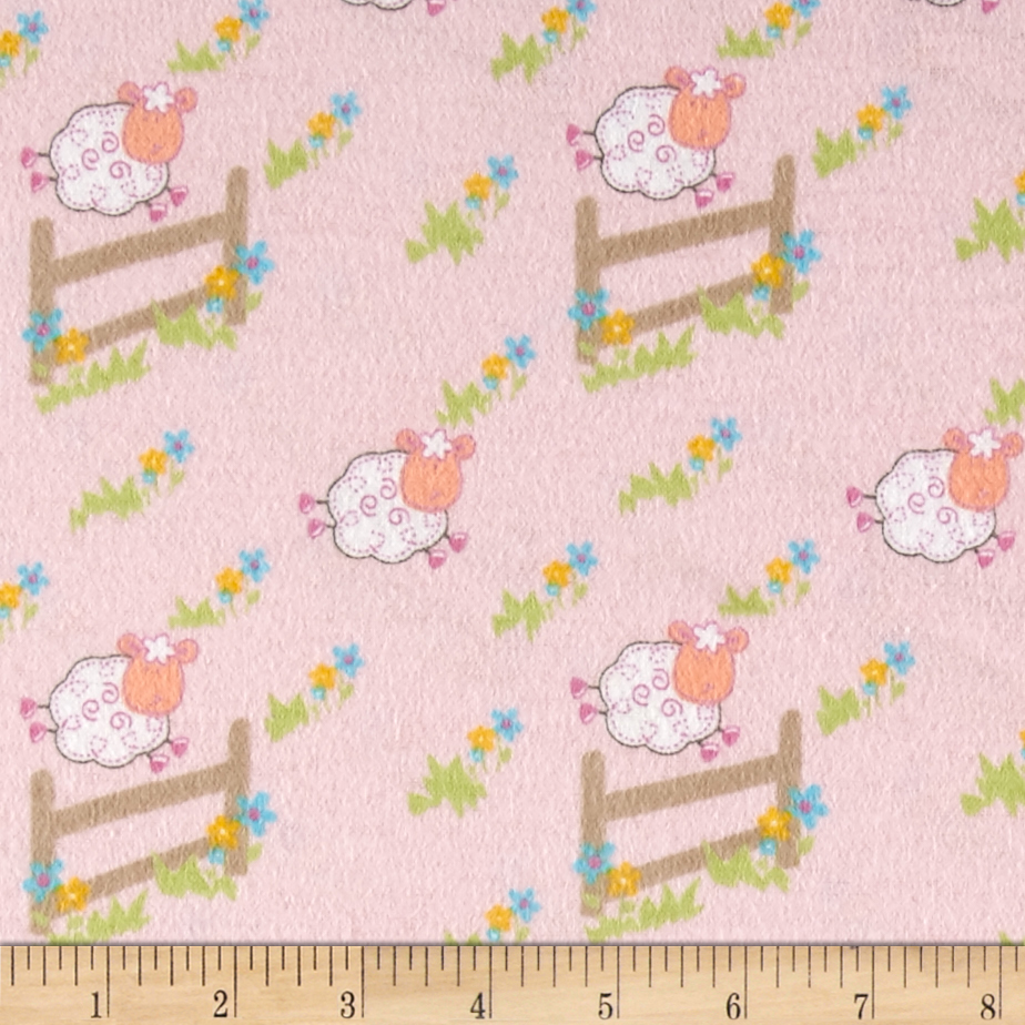 Countdown Flannel Pink Fabric by Newcastle in USA