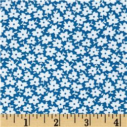 The Little Red Hen Monotone Floral Blue