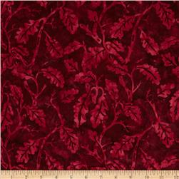 Moda Paint Box Batiks Oak Leaf Plum