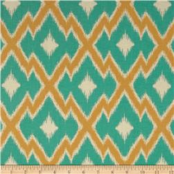 Joel Dewberry Botanique Aztec Ikat Teal Fabric
