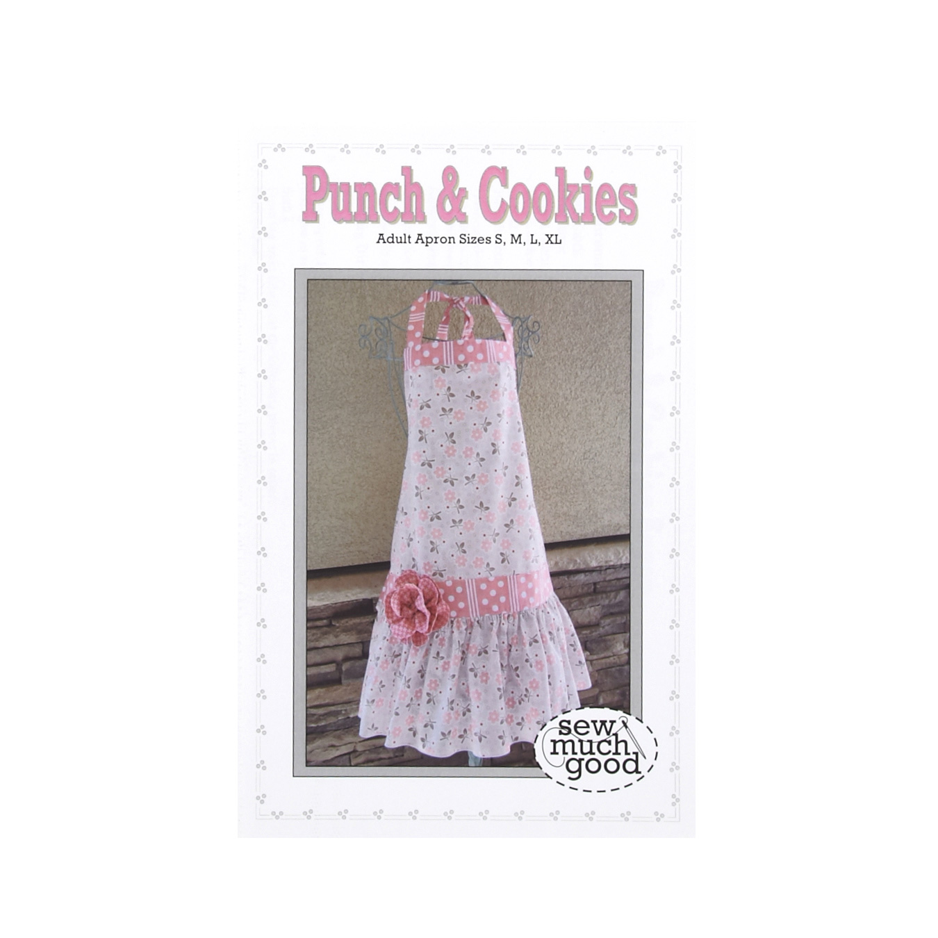 Vintage Aprons, Retro Aprons, Old Fashioned Aprons & Patterns Sew Much Good Punch  Cookies Apron Pattern $9.98 AT vintagedancer.com