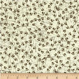 Fox & Acorns Paw Prints Cream