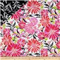 Hannah Double Faced Quilted Large Daisies Pink/White
