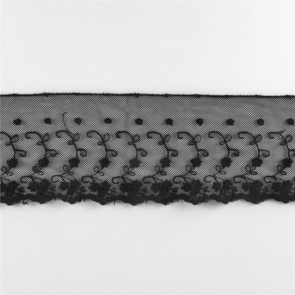"Riley Blake 4"" Decorative Lace Black"