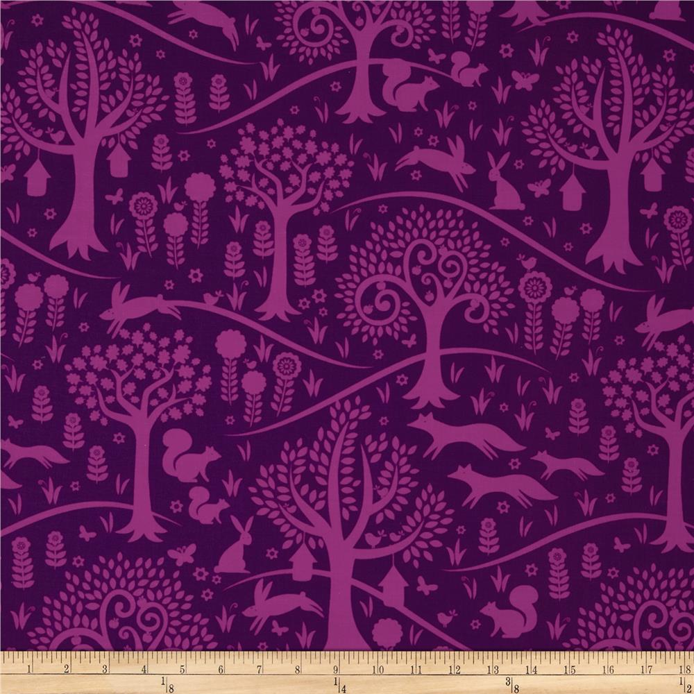 Michael Miller Norwegian Woods Too Foxtrot Purple