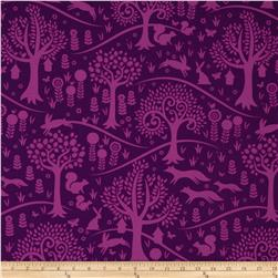 Michael Miller Norwegian Woods Too Foxtrot Purple Fabric