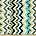 Kanvas Tea's Me Zen Stripe Aqua/Cream