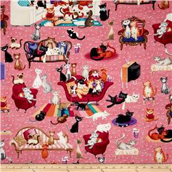 Kanvas Kitty Galore Cat Lounge Pink