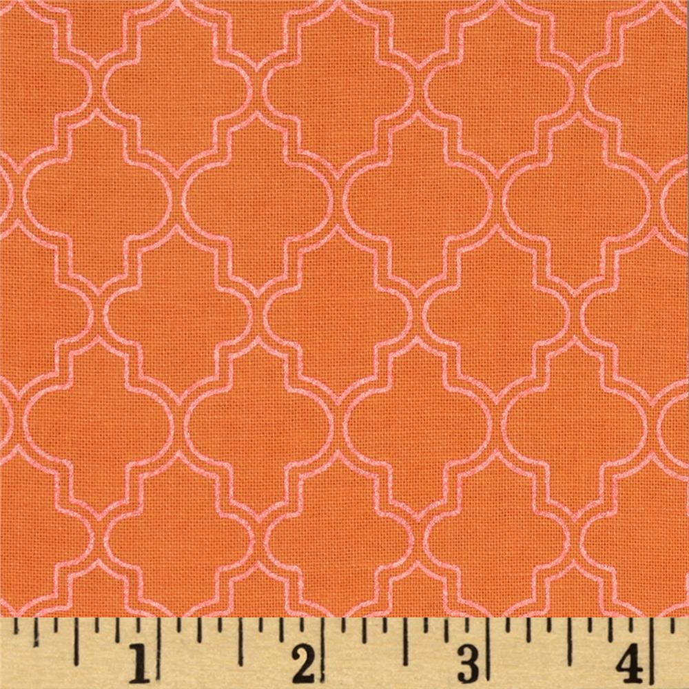 Pearl Essence Quatrefoil Orange