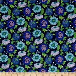 Stonewall Bloom Medium Toss Floral Light Navy