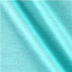 Polyester Jersey Knit Solid Light Turquoise