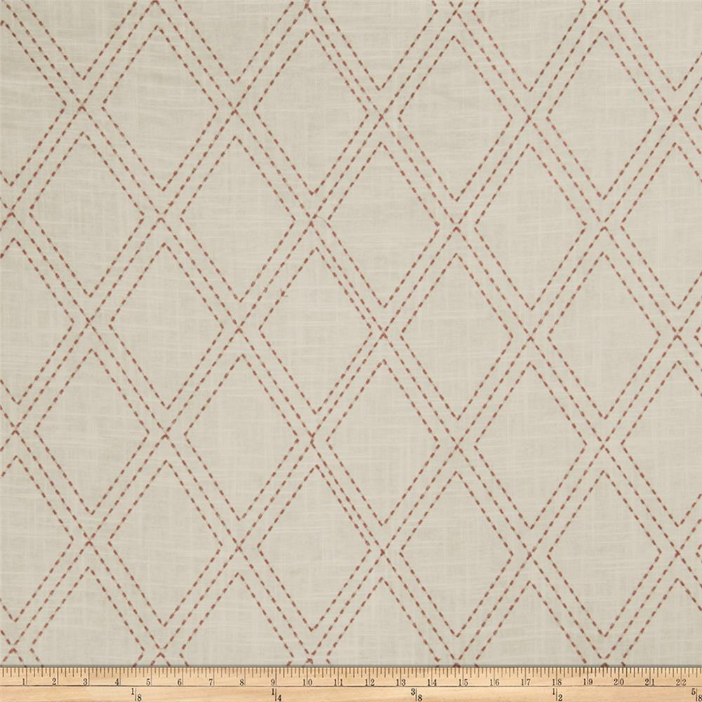 Jaclyn Smith 02615 Embroidered Linen Scarlet