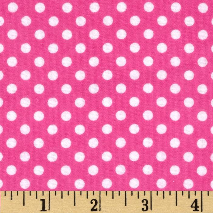 Cuddle Me Basics Flannel Large Dot Pink