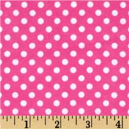 Cuddle Me Basics Flannel Large Dot Pink Fabric