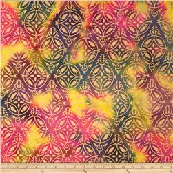 Indian Batik Montego Bay Metallic Medallion Multi