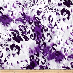Rihan Jersey Knit Purple Splatter on Ivory