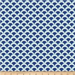 Riley Blake Lula Magnolia Scallop Blue Fabric