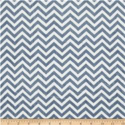 Minky Cuddle Mini Chevron Denim Blue/White