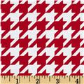Riley Blake Medium Houndstooth Red