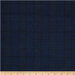 Cozy Yarn Dye Flannel Menswear Plaid Navy